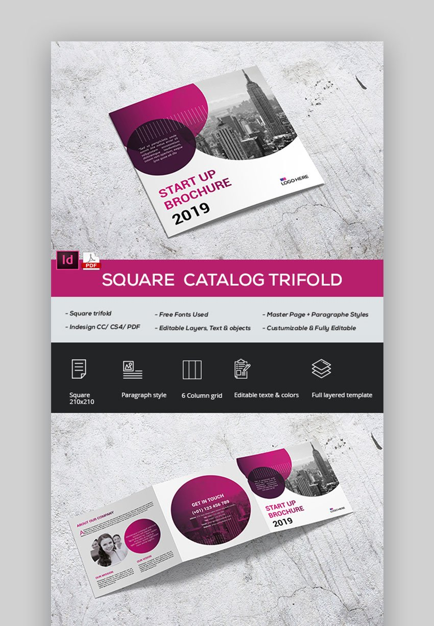 Square modern product brochure