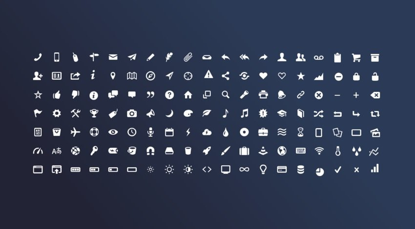 Icons for Graphic Design Presentation