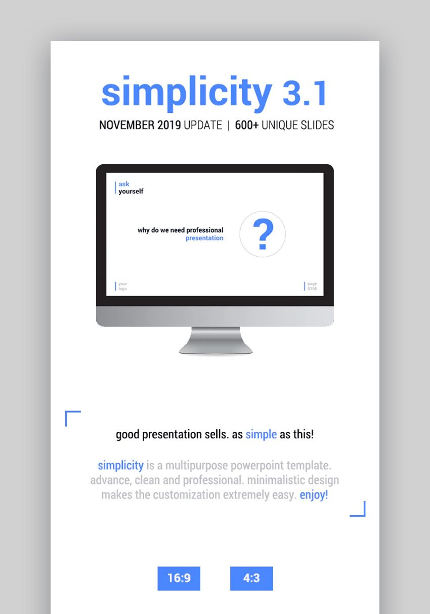 Simplicity GraphicRiver Animation in PowerPoint template