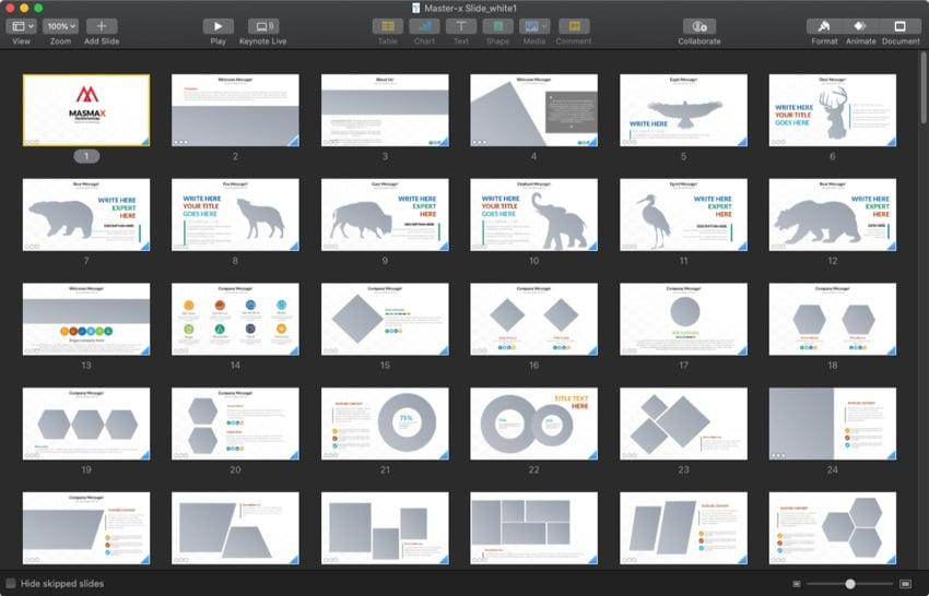 Masmax Keynote design