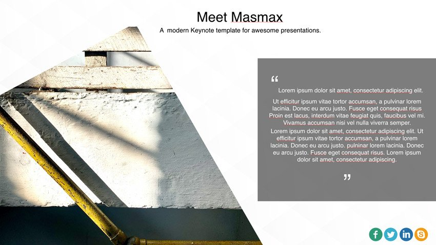 Masmax awesome Keynote template
