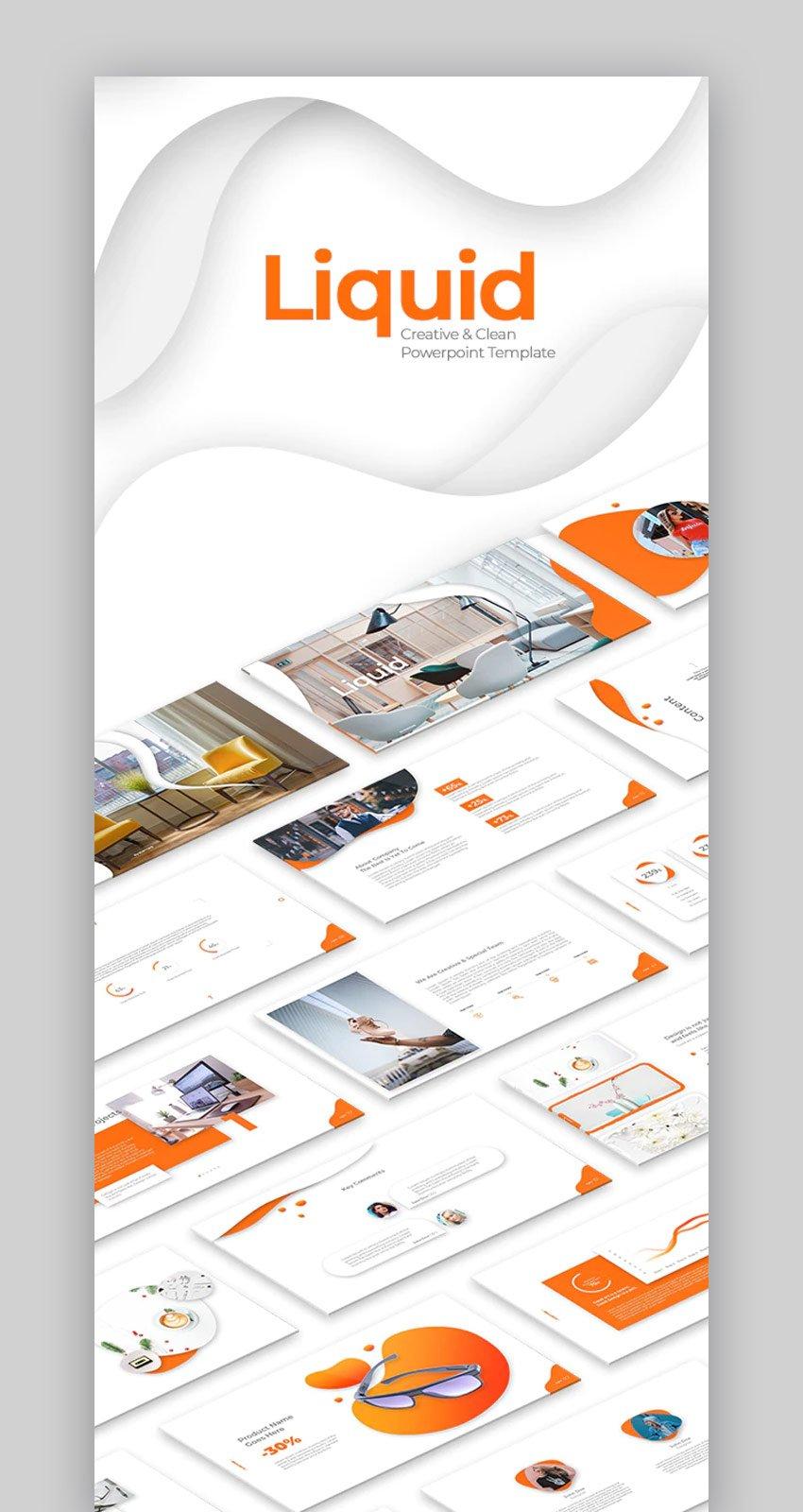 Liquid Creative Business PowerPoint-Vorlagen