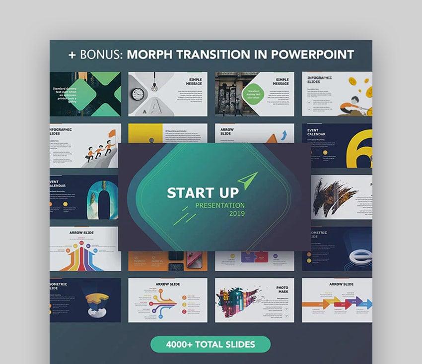 Startup PowerPoint design template