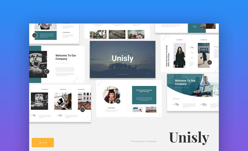 Unisly Google Slides theme for education