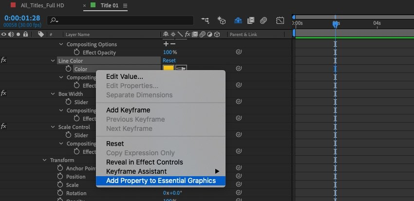 Add property to Essential graphics