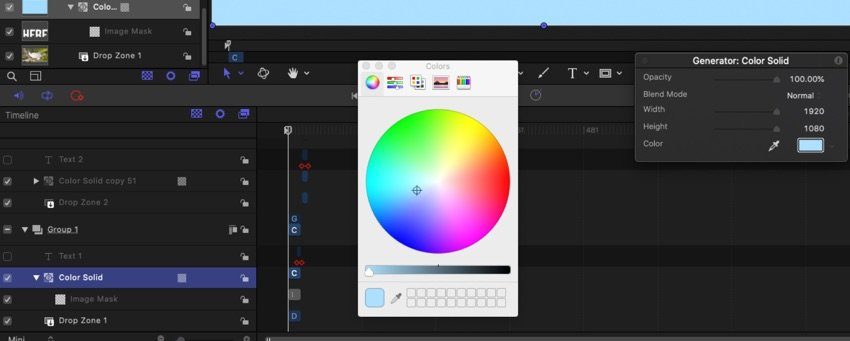Color background selection