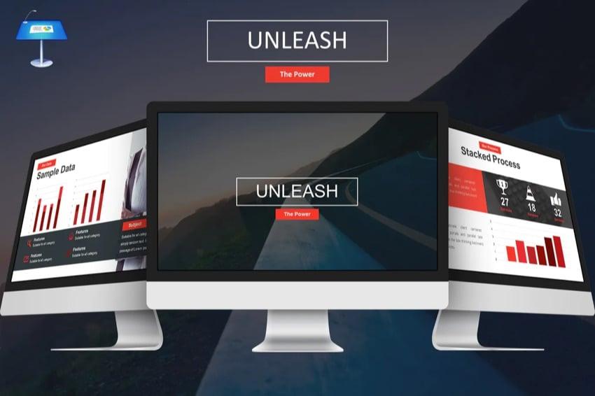 Unleash Keynote template design