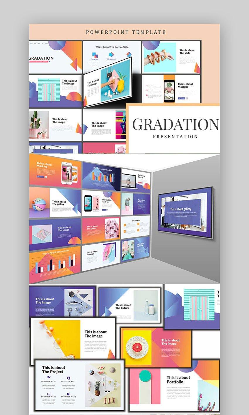 Gradation Nice Slides template