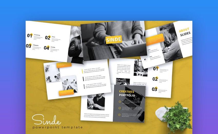 Business PowerPoint Sinde Template
