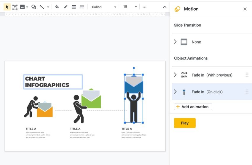 Animation in Google Slides infographic