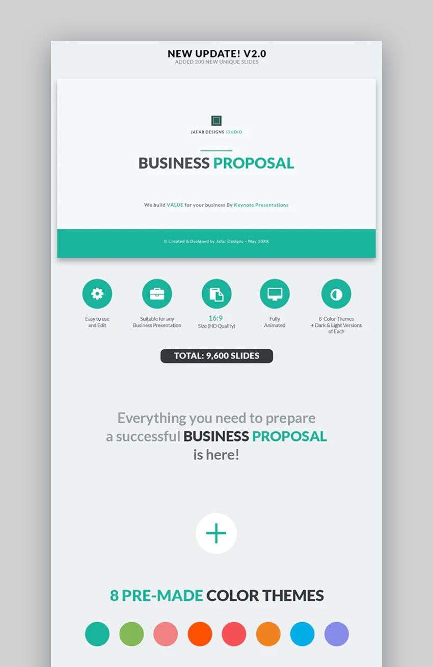 Business proposal timeline template for Keynote