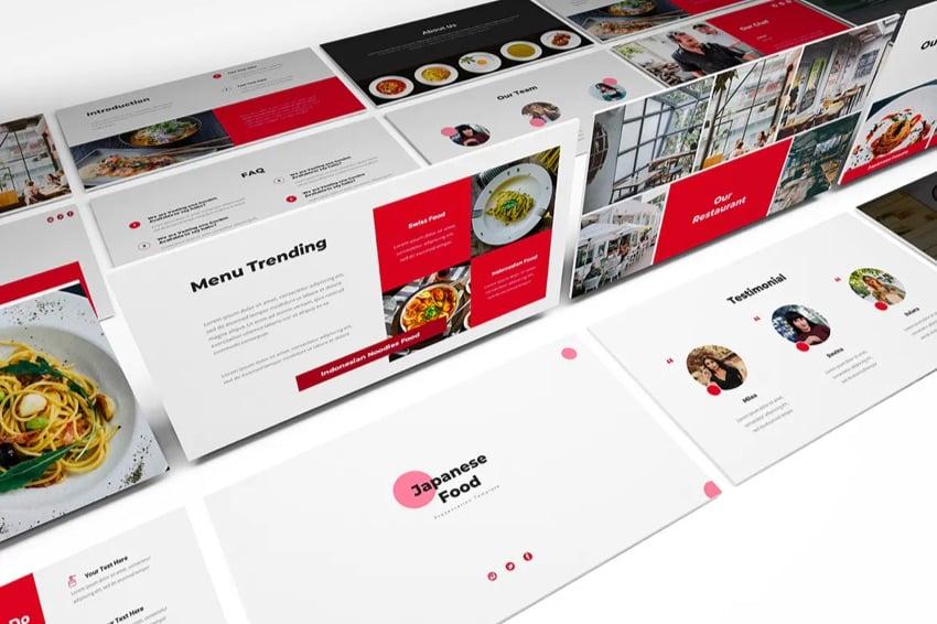 Japanese food menu template