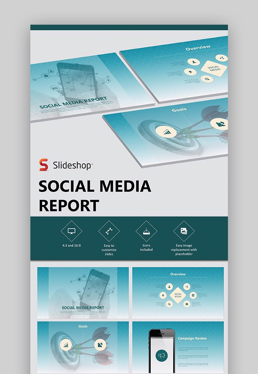 Social media marketing plan PowerPoint presentation