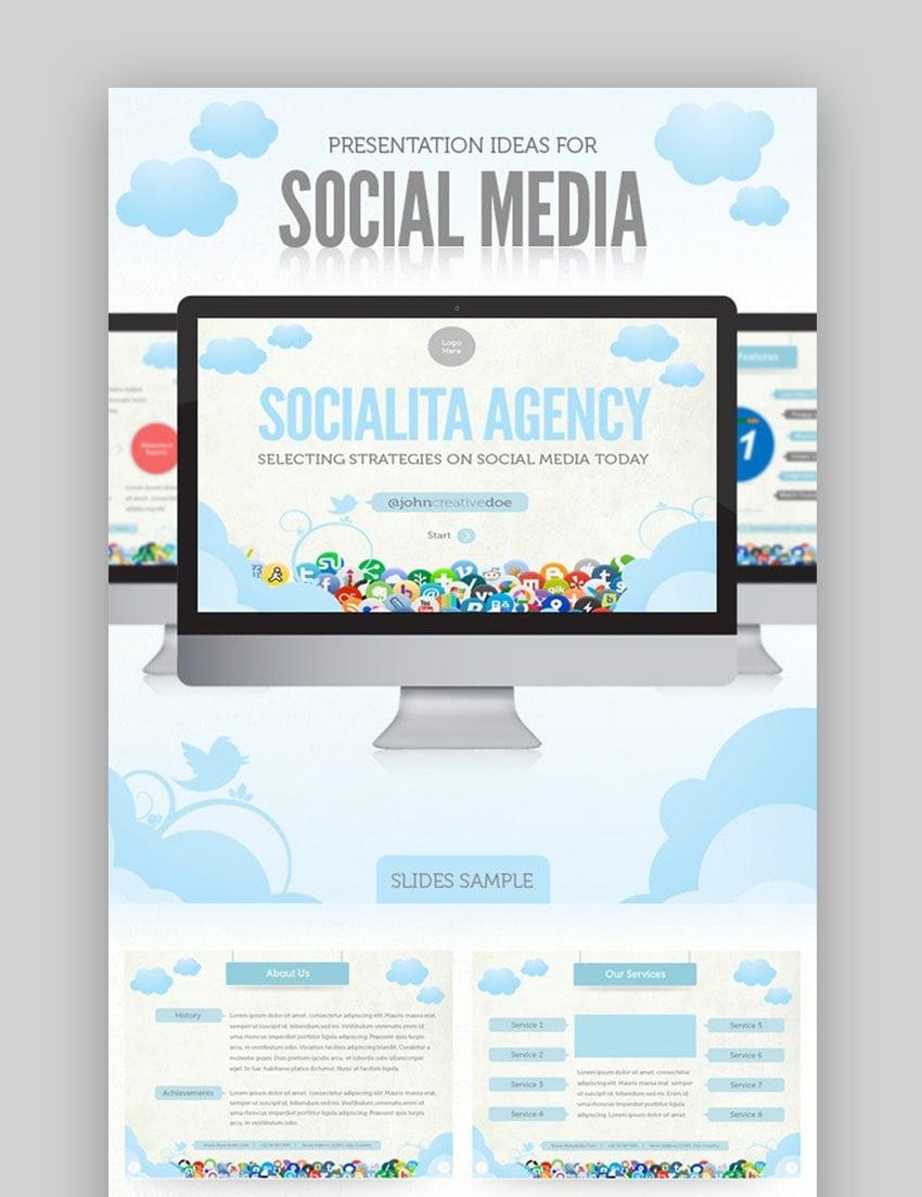 Social media marketing PPT template