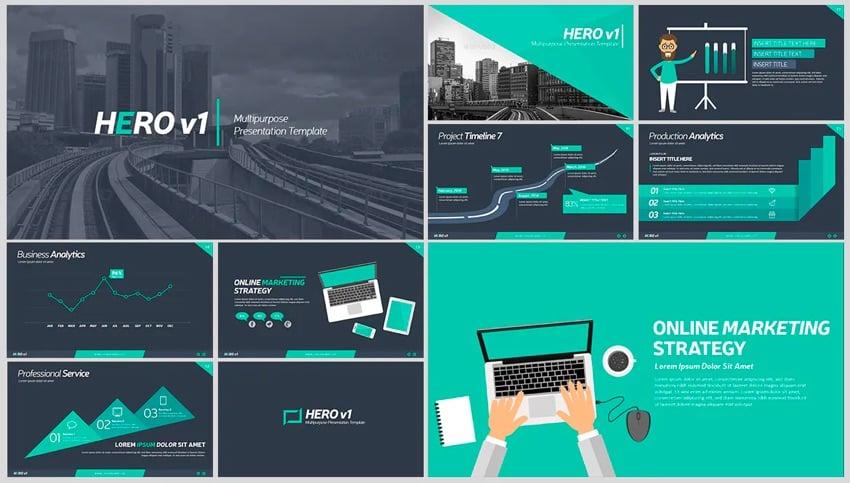 Herov1 Animated PowerPoint template