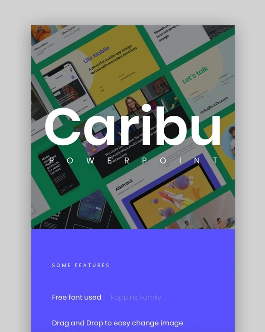 Caribu modern PowerPoint template 2020