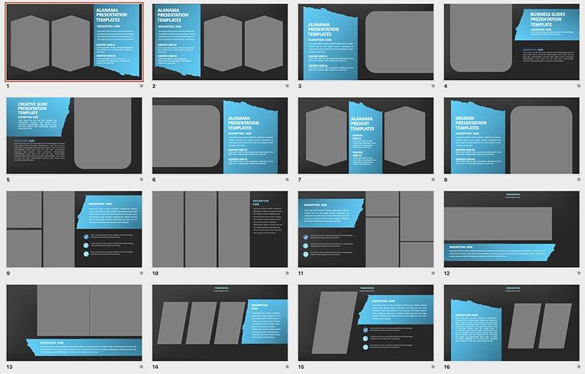 short PPT template minimalist