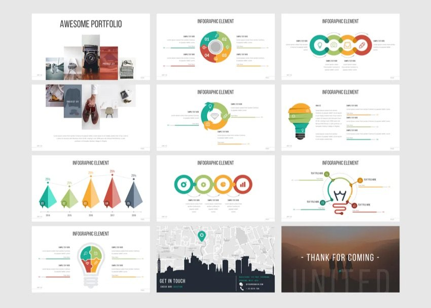 United modern PowerPoint template