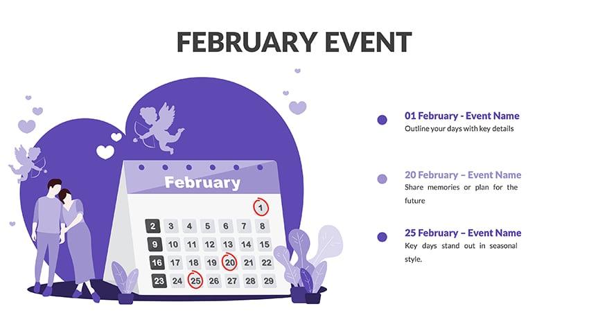 Calendar for Google Slides