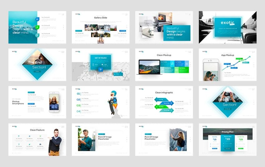 Template presentation design tips new