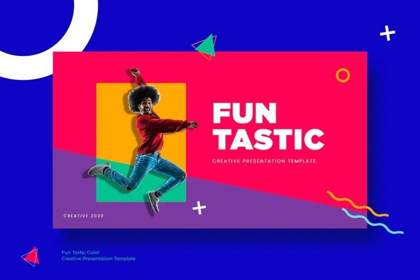 Funtastic fun Google Slides template intro
