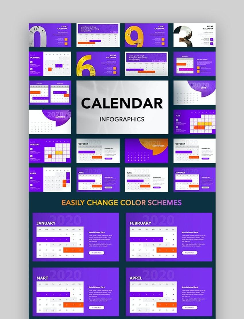 2020 calendar template PowerPoint