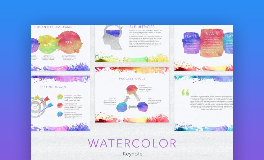 Watercolor Keynote background templates