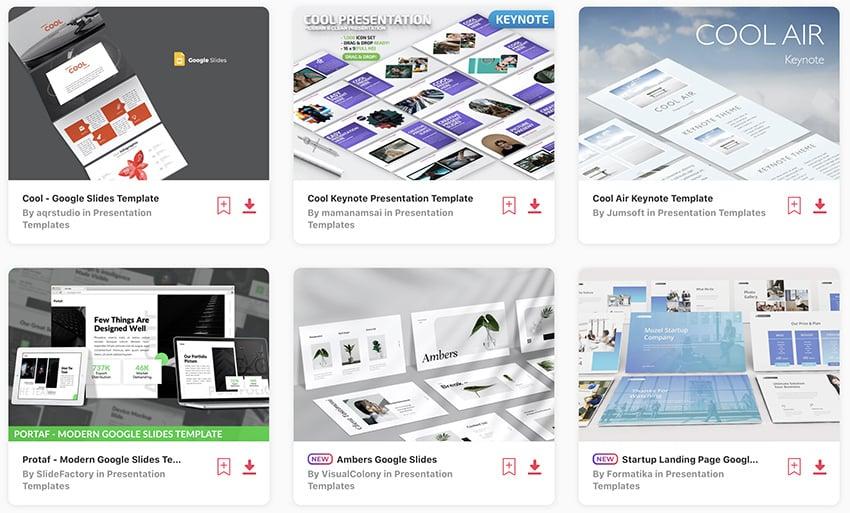 Elements coole Themes für Google Slides