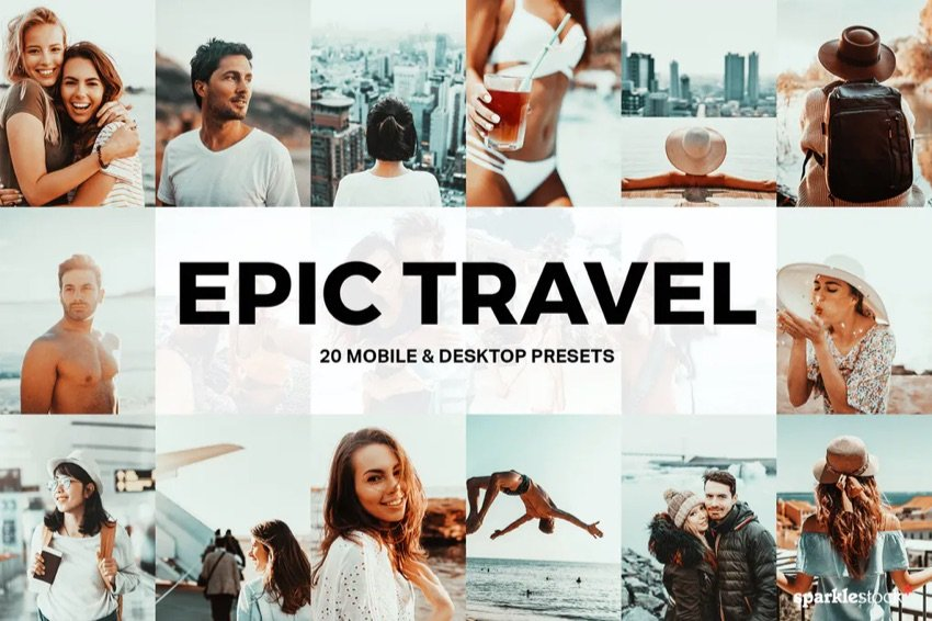 20 epic travel LR presets
