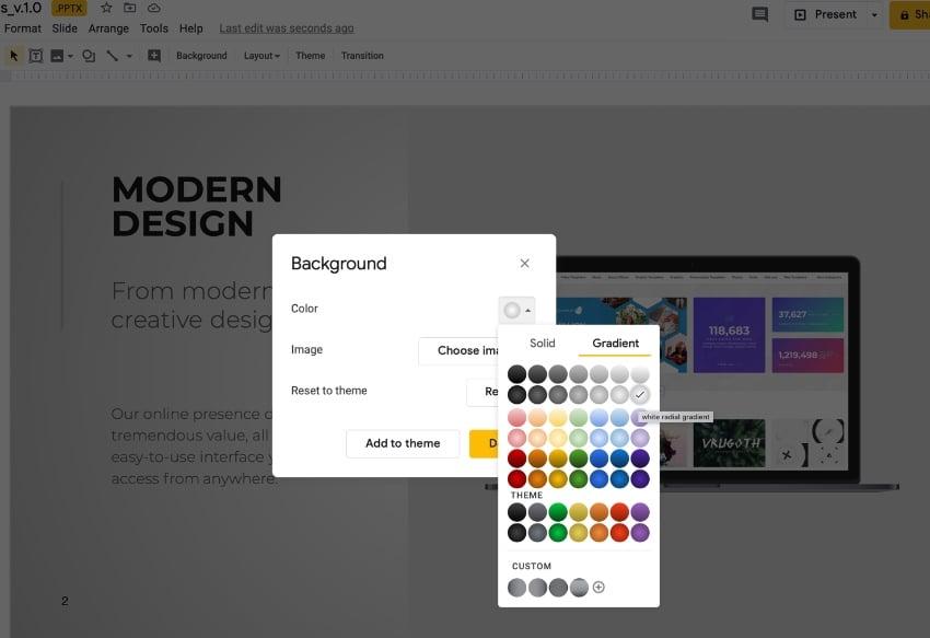 Step 5 Google Slides professional themes