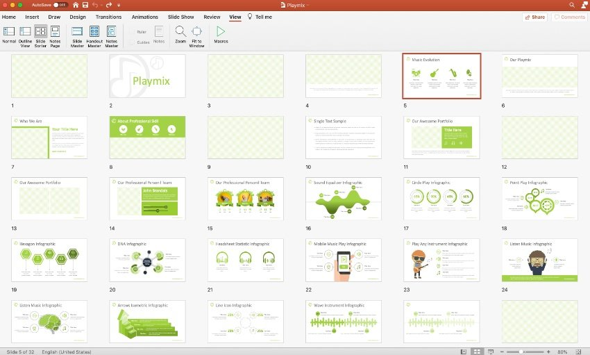 Step 1 music PowerPoint template