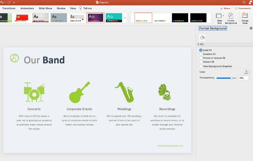 Step 3 Music PPT template