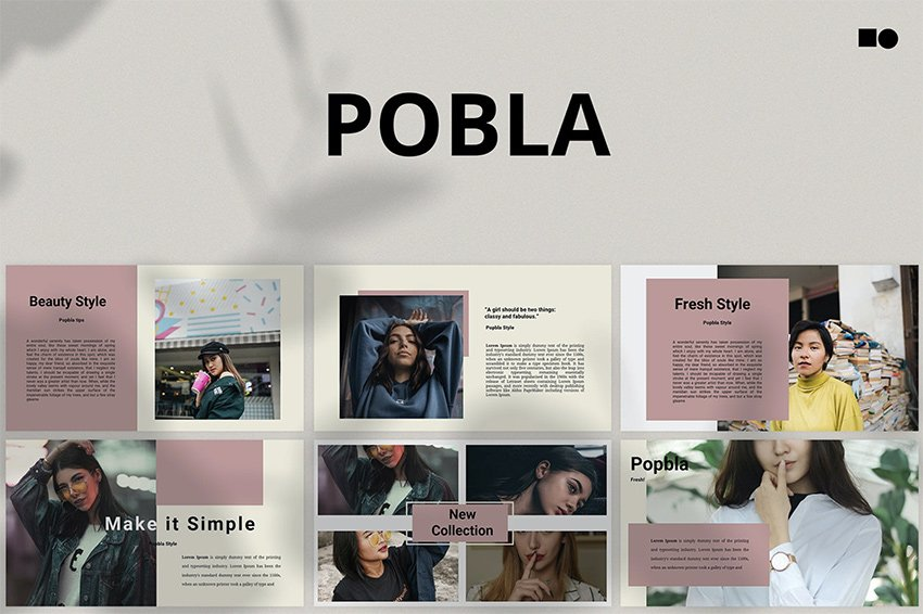 Pobla colorful PowerPoint templates