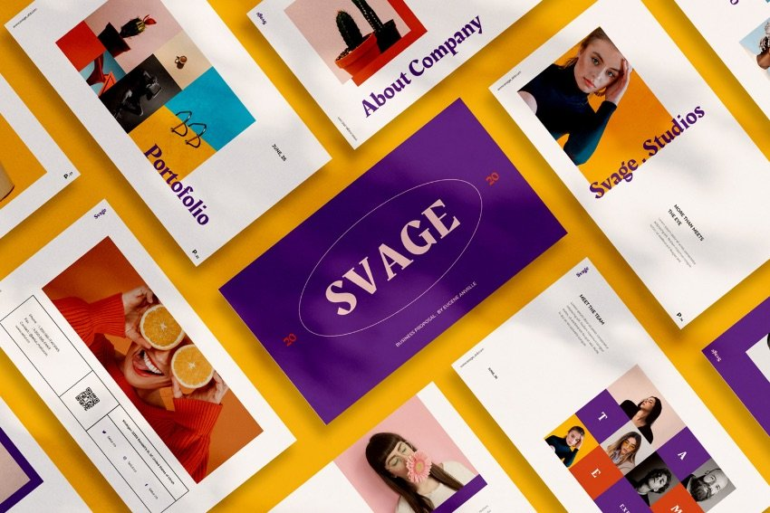Svage PowerPoint color schemes templates