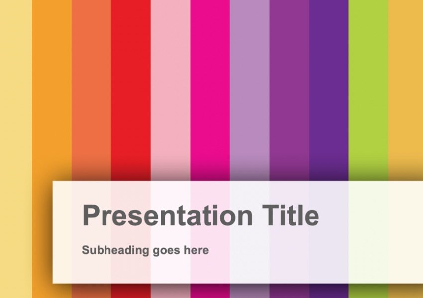Vertical free colorful PowerPoint templates