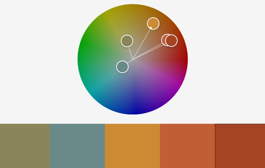 Colors retro rainbow PowerPoint template