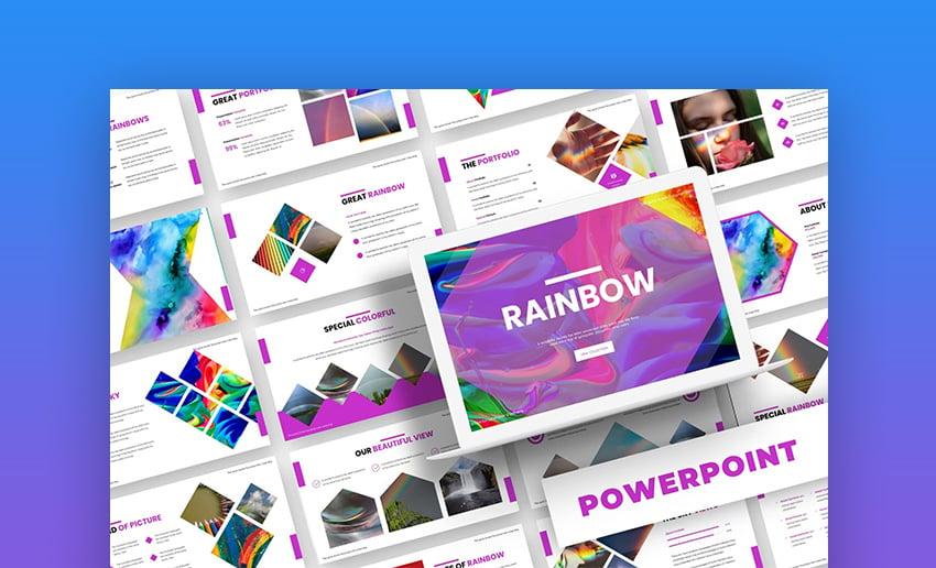 Rainbow PowerPoint template