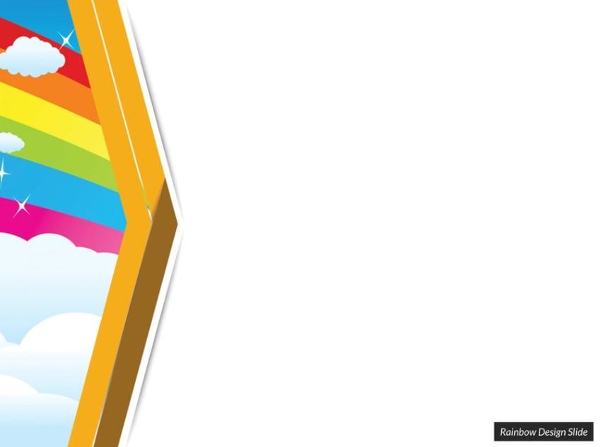 Sky rainbow PowerPoint background templates