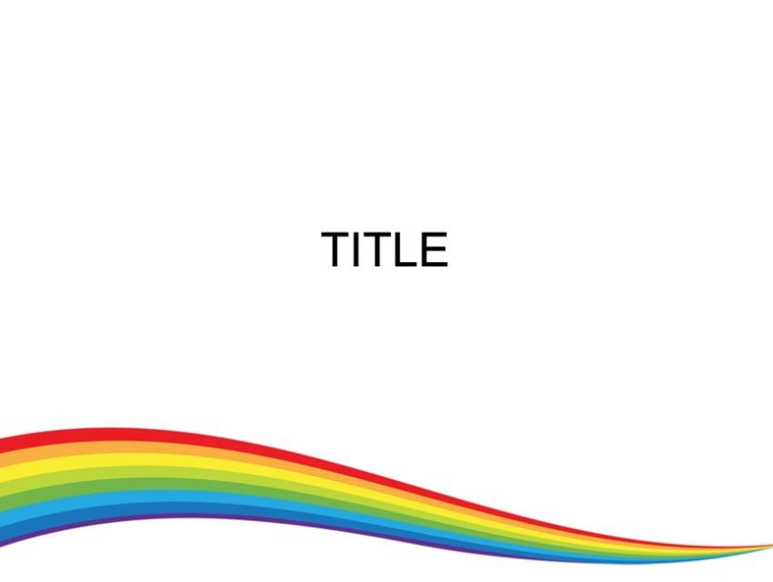 Wave rainbow PowerPoint background templates