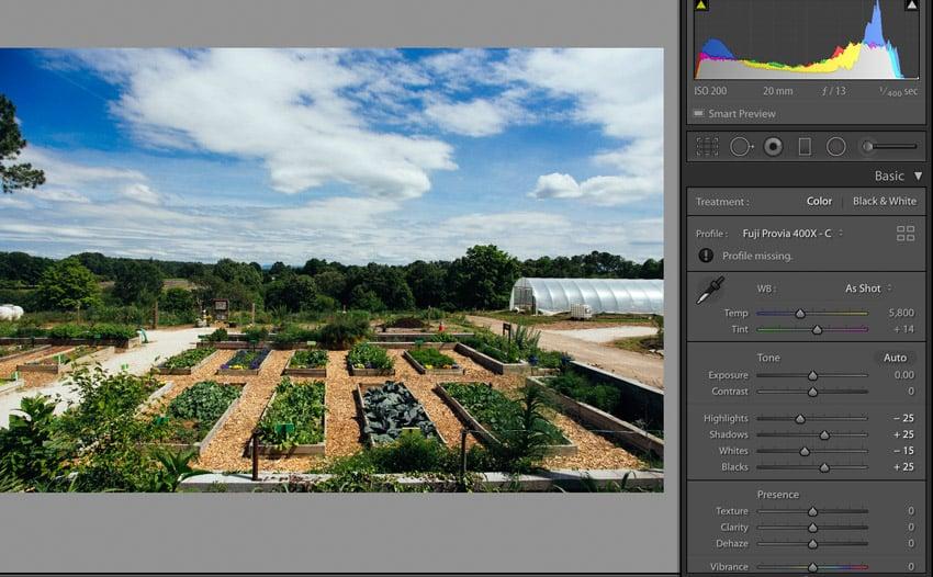 Visualize edit Lightroom