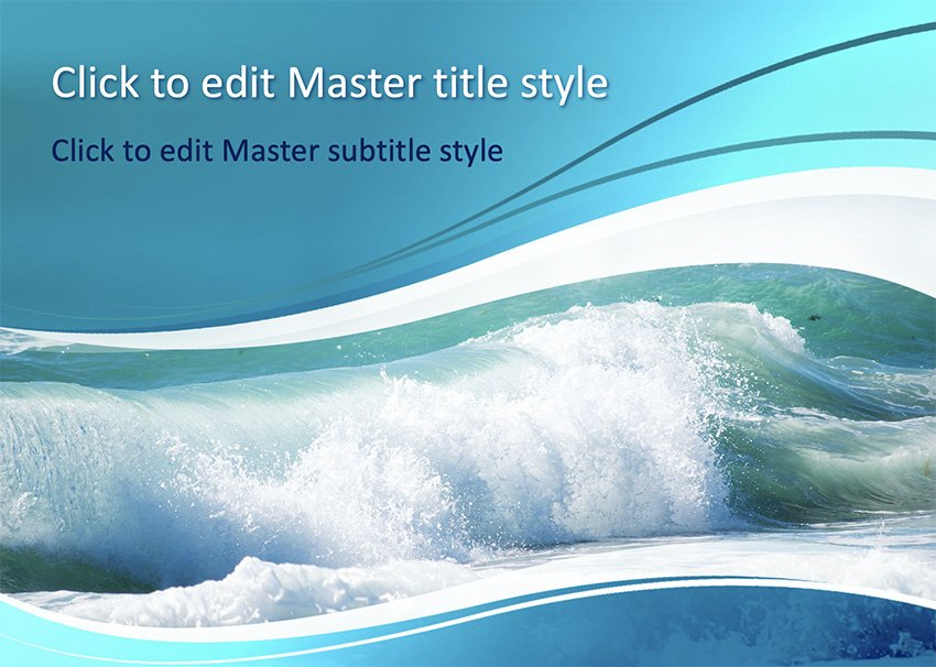 Free water PowerPoint background