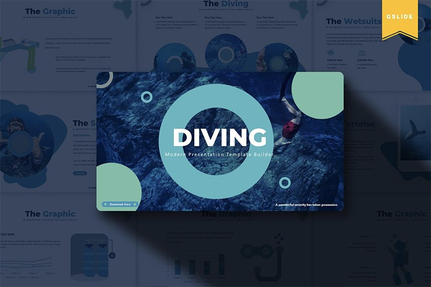 image ocean Google Slides theme