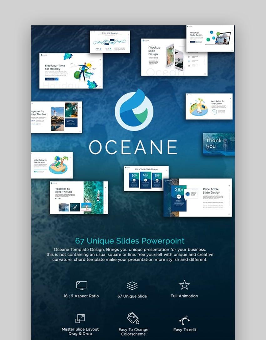 Water PowerPoint presentation templates