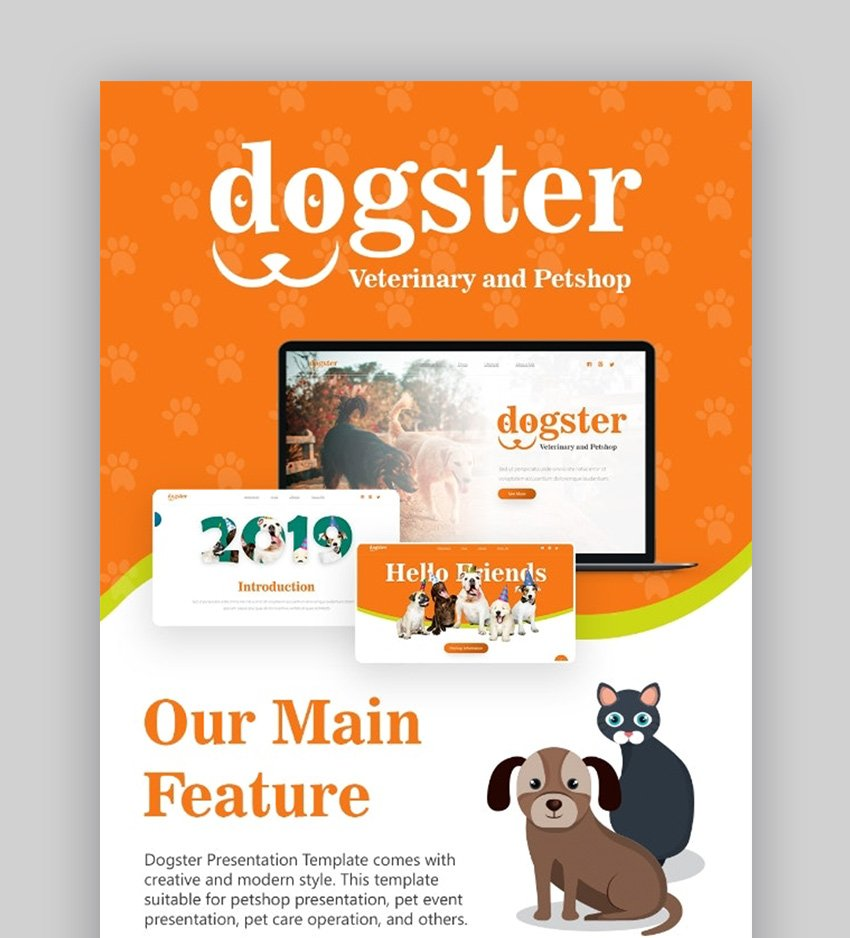 Dogs PowerPoint template