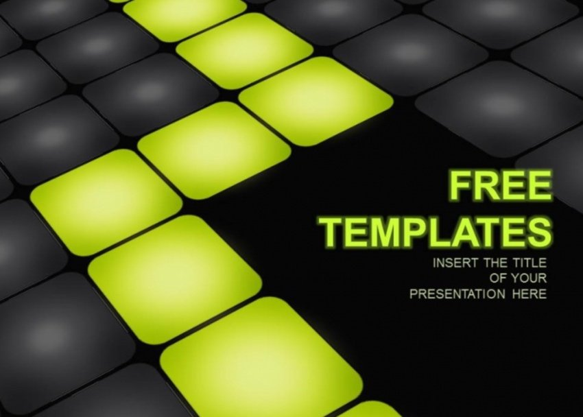 Free neon PowerPoint template