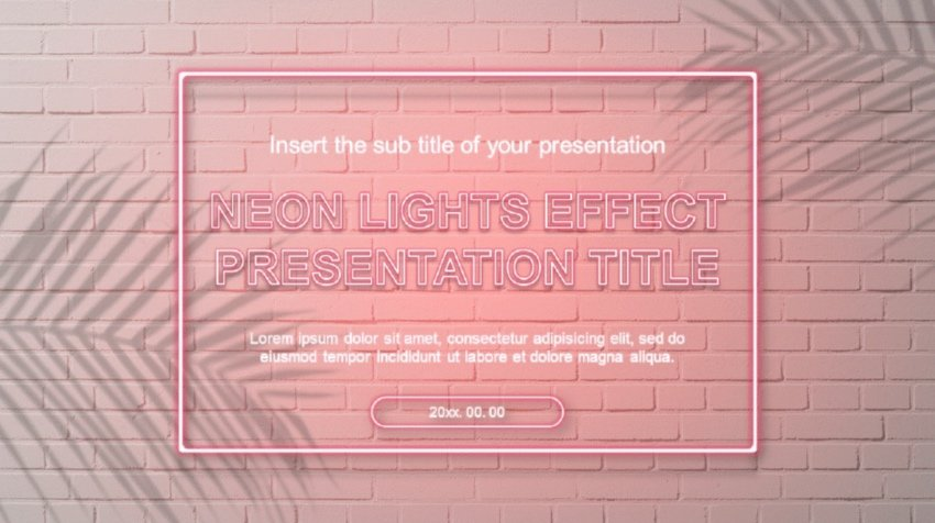 Neon PowerPoint