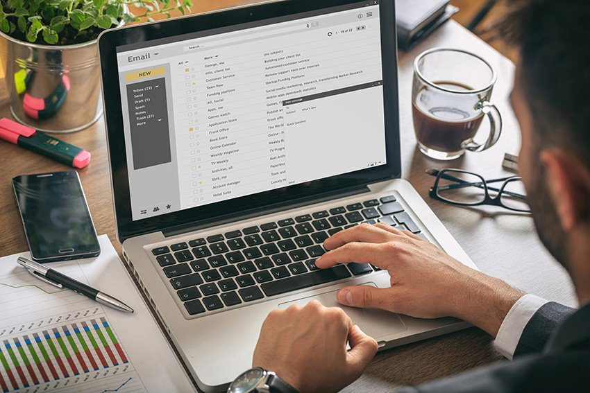 Email managing a remote team