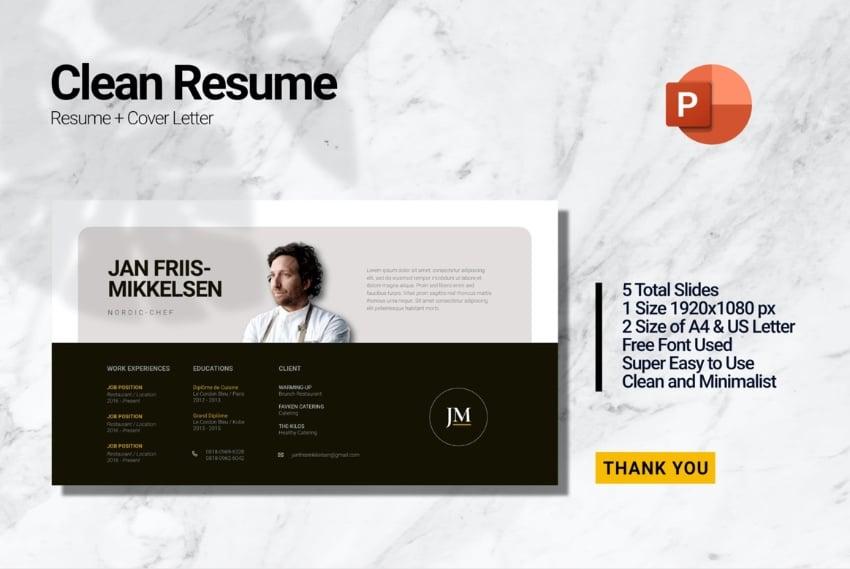 Chef resume PowerPoint