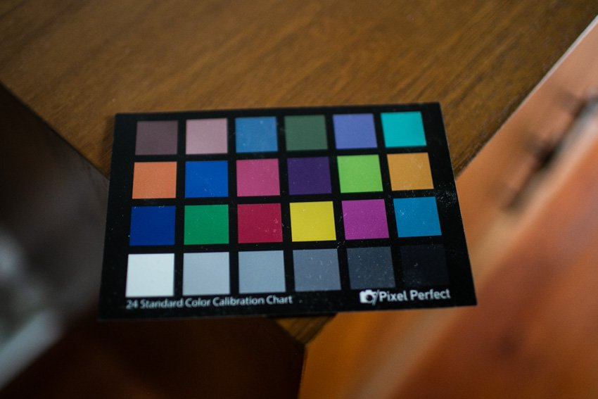 24 panel color card