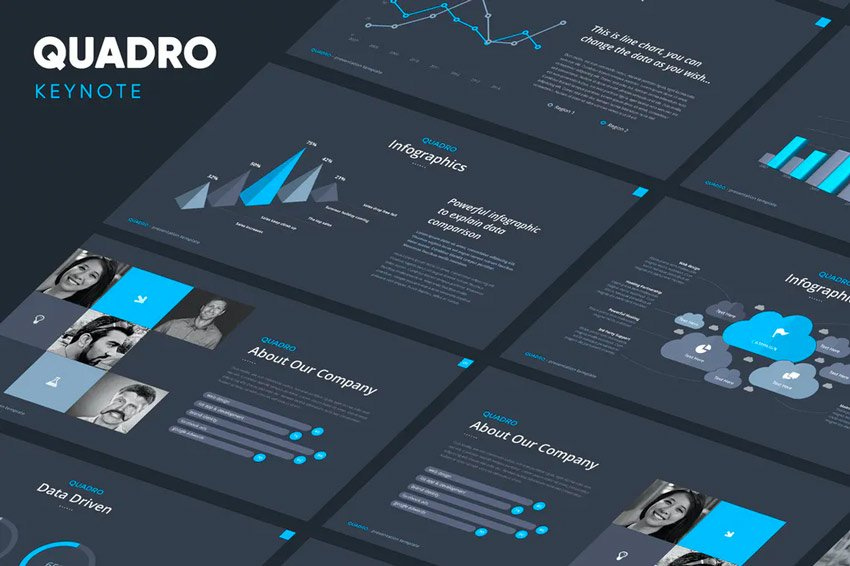Quadro Keynote monochrome